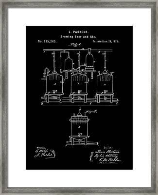 Louis Pasteur Beer Brewing Patent 1873 - Black Framed Print by Stephen Younts