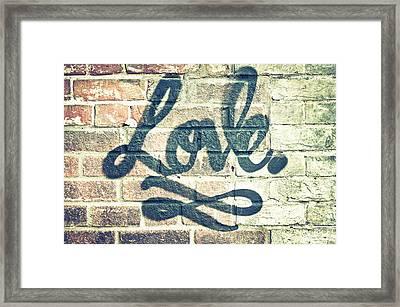 Love Graffiti Framed Print by Tom Gowanlock