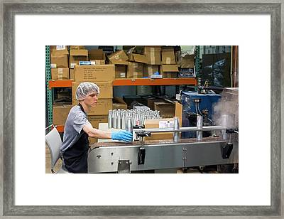 Marijuana Products Factory Framed Print by Jim West