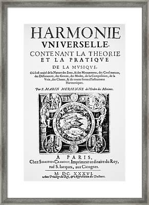 Marin Mersenne (1588-1648) Framed Print by Granger