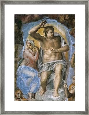 Michelangelo 1475-1564. Sistine Chapel Framed Print by Everett