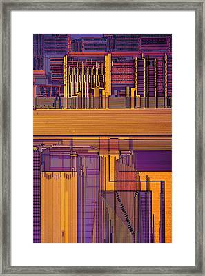 Microprocessor Components Framed Print by Antonio Romero