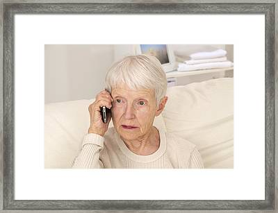 Mobile Phone Use Framed Print by Science Photo Library