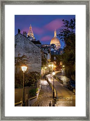 Montmartre Twilight Framed Print by Brian Jannsen