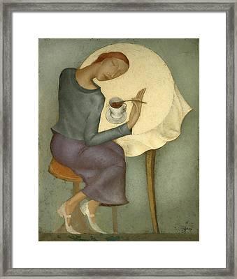 Morning Coffee Framed Print by Nicolay  Reznichenko