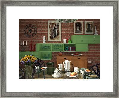 My Art In The Interior Decoration - Elena Yakubovich Framed Print by Elena Yakubovich