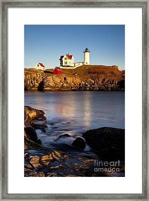 Nubble Lighthouse Framed Print by Brian Jannsen
