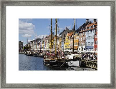 Nyhavn - Copenhagen Denmark Framed Print by Jon Berghoff