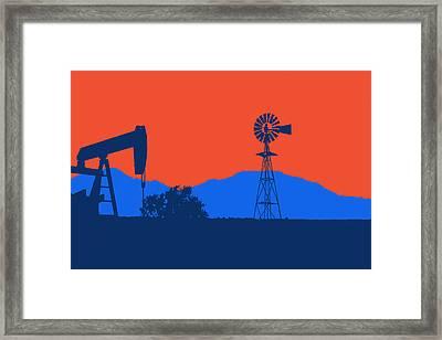 Oklahoma City Thunder Framed Print by Joe Hamilton