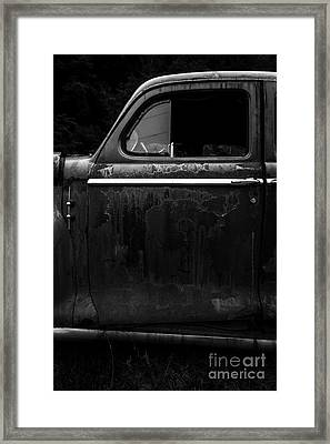 Old Junker Car Open Edition Framed Print by Edward Fielding