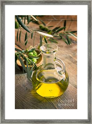 Olive Oil Framed Print by Mythja  Photography