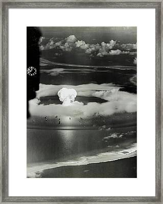 Operation Crossroads Atom Bomb Test Framed Print by Library Of Congress