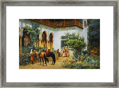 Ottoman Daily Life Scene Framed Print by Celestial Images