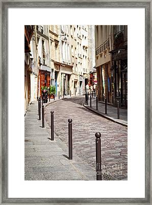 Paris Street Framed Print by Elena Elisseeva
