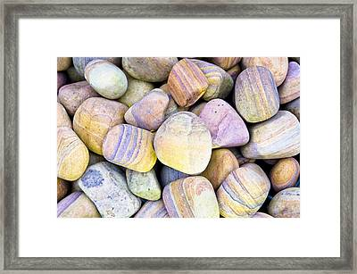 Pebbles Framed Print by Tom Gowanlock