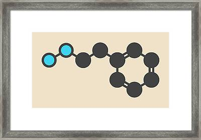 Phenelzine Antidepressant Molecule Framed Print by Molekuul
