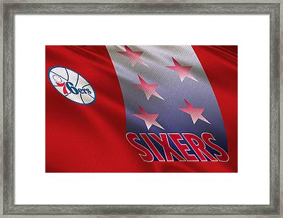 Philadelphia 76ers Uniform Framed Print by Joe Hamilton