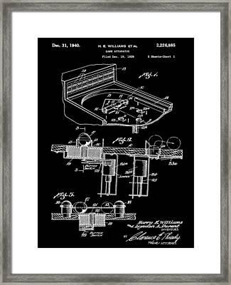 Pinball Machine Patent 1939 - Black Framed Print by Stephen Younts