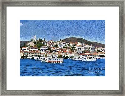 Poros Island Framed Print by George Atsametakis