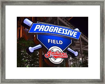 Progressive Field Framed Print by Frozen in Time Fine Art Photography