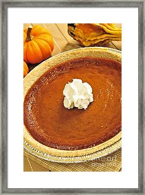 Pumpkin Pie Framed Print by Elena Elisseeva