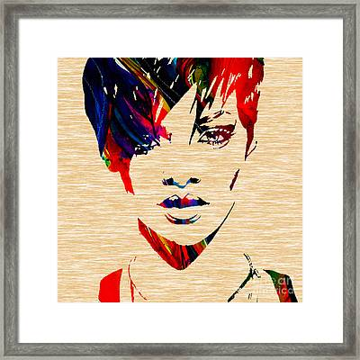 Rhianna Framed Print by Marvin Blaine