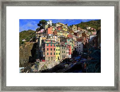 Riomaggiore Framed Print by Barbara Walsh