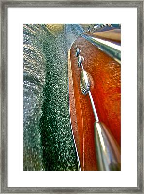 Riva Wake Framed Print by Steven Lapkin