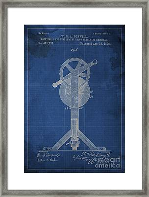Rock Drill And Instrument Using Revolving Hammers Framed Print by Pablo Franchi