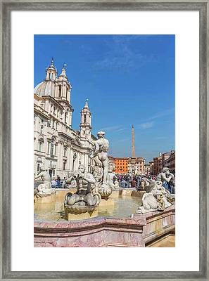 Rome, Italy. Piazza Navona Framed Print by Ken Welsh