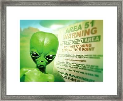 Roswell Alien Framed Print by Detlev Van Ravenswaay