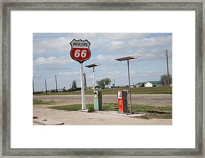 Route 66 - Adrian Texas Framed Print by Frank Romeo