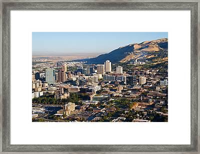 Salt Lake City Utah Framed Print by Utah Images