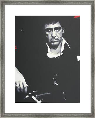Scarface 2013 Framed Print by Luis Ludzska