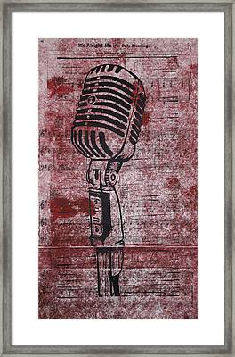 Shure 55s On Music Framed Print by William Cauthern