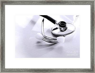 Stethoscope Framed Print by Olivier Le Queinec