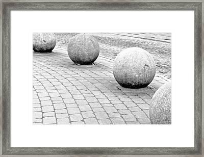 Stone Balls Framed Print by Tom Gowanlock
