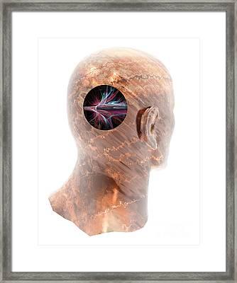 Stroke, Conceptual Artwork Framed Print by Laguna Design