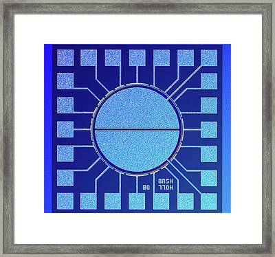 Surface Of Microchip Framed Print by Alfred Pasieka
