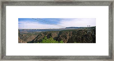 Suspension Bridge Across A Canyon Framed Print by Panoramic Images