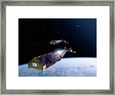 Swarm Satellites Framed Print by P.carril/esa
