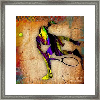 Tennis Framed Print by Marvin Blaine