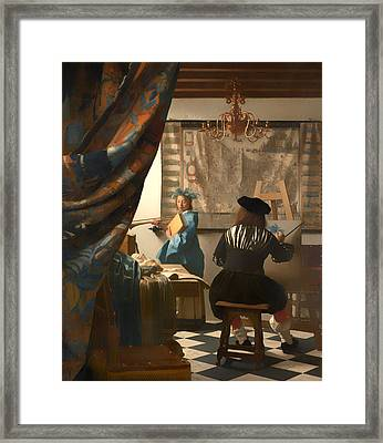 The Art Of Painting Framed Print by Mountain Dreams