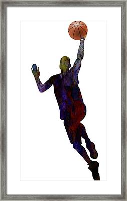 The Basket Player Framed Print by Adam Asar