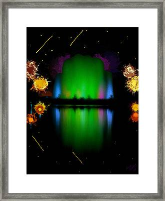 The Electric Fountain Framed Print by Bruce Nutting