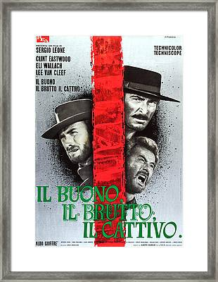 The Good, The Bad And The Ugly, Aka Il Framed Print by Everett