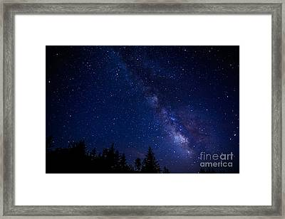 The Milky Way Over Cranberry Wilderness Framed Print by Thomas R Fletcher