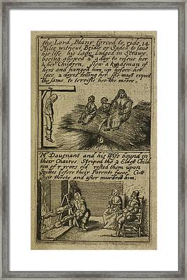 The Teares Of Ireland Framed Print by British Library