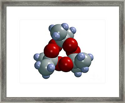 Tri-cyclic Acetone Peroxide, Explosive Framed Print by Dr. Mark J. Winter