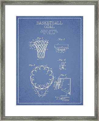 Vintage Basketball Goal Patent From 1936 Framed Print by Aged Pixel